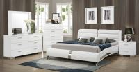 Coaster Felicity Platform Bedroom Set - White 300345-Bed ...