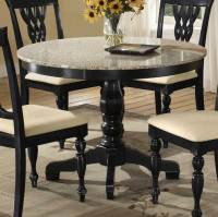 Hillsdale Embassy Round Pedestal Table with Granite Top HD ...