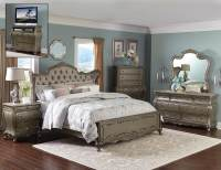 Homelegance Florentina Bedroom Set - Silver/Gold 1867 ...