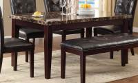 Homelegance Teague Faux Marble Dining Table - Espresso ...