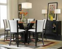 Homelegance Daisy Round Glass Top Counter Height Dining ...