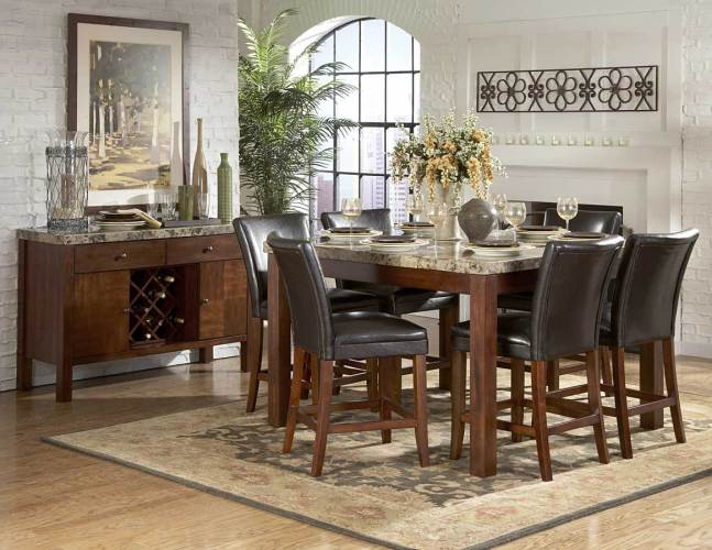 Homelegance Furniture Achillea Counter Height Dining Table Marble Top M 54 p marble top kitchen table Homelegance Achillea Counter Height Dining Table Marble Top