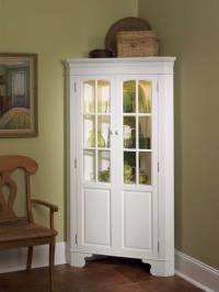 Home Styles Corner Curio Cabinet with Light - White 88 ...