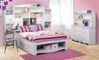 Nexera Pixel Youth Full Size Tall Bookcase Storage Bedroom ...