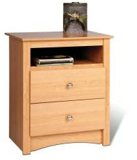 Prepac Manufacturing Maple Sonoma 2 Drawer Night Stand