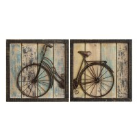 Stratton Home Decor Set of 2 Rustic Bicycle Wall Decor ...