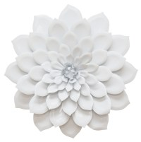 Stratton Home Decor Layered Flower Wall Decor - White ...
