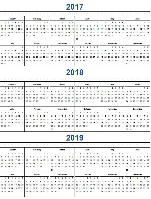 printable yearly calendars 2013 template