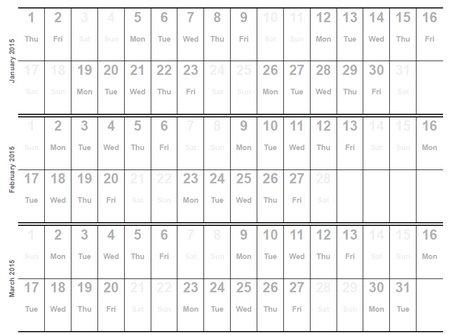 Home Life Weekly » Printable Calendar 2015