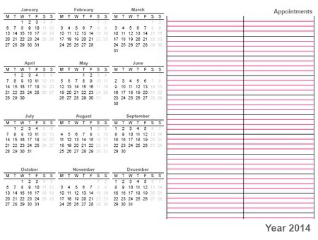 full year calendar - Romeolandinez
