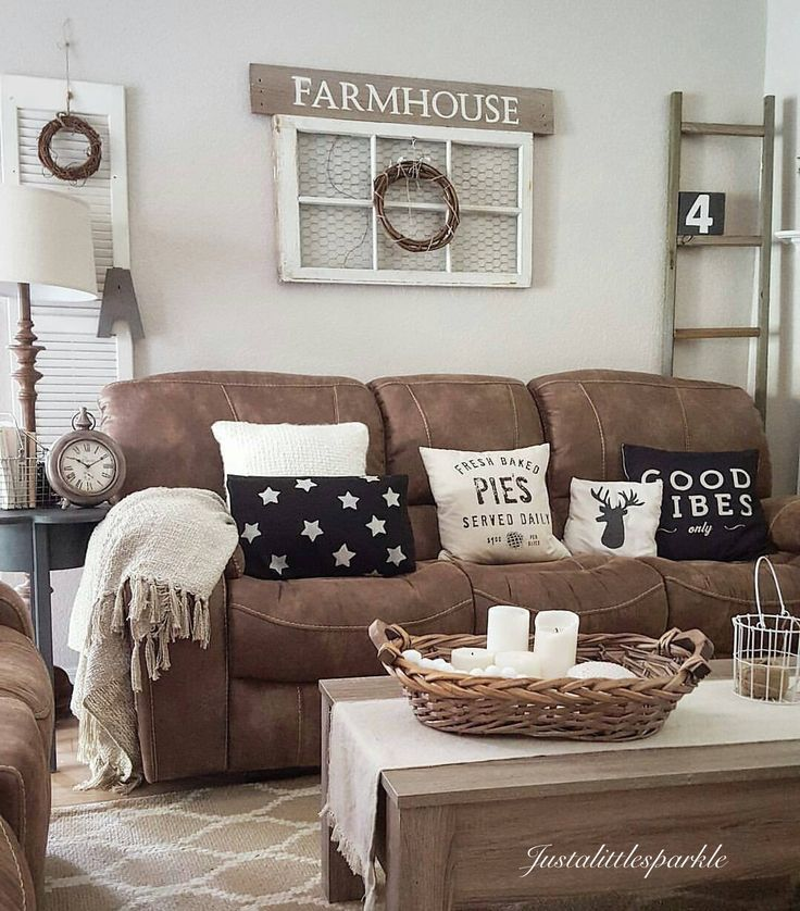 27 Rustic Farmhouse Living Room Decor Ideas for Your Home - Homelovr - farmhouse living room furniture