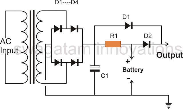 10 ah battery charger circuit using a 12 volt relay