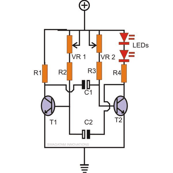 12v lamp flasher circuit