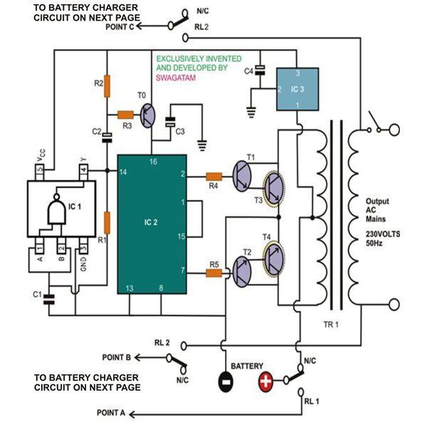 4 Simple Uninterruptible Power Supply (UPS) Circuits Explored