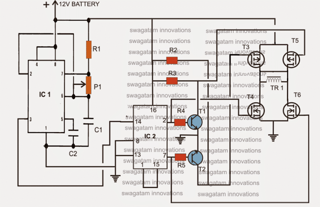 sine wave generator electronic project circuit
