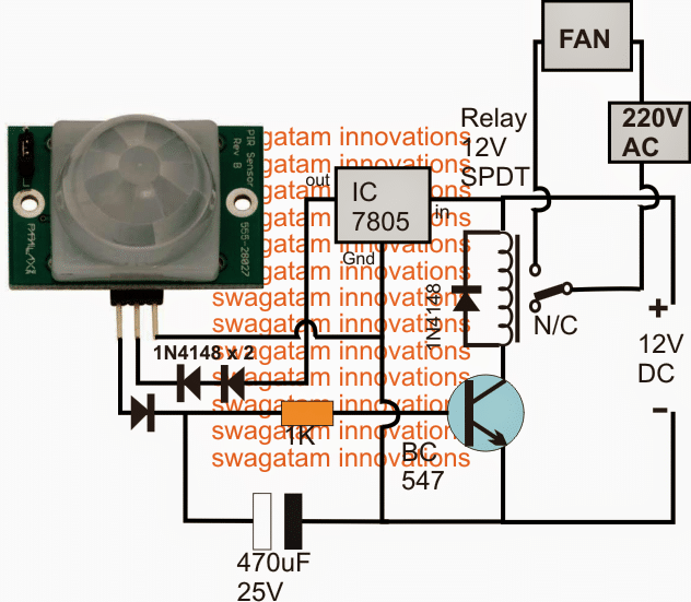 110v Light Sensor Wiring Diagram Pir Controlled Fan Circuit For Schools And Colleges