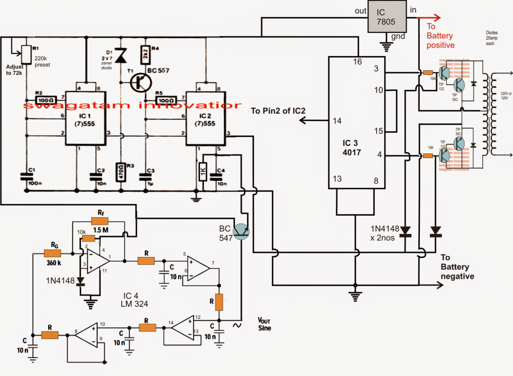 230v 1 Phase Wiring Diagram Free Picture Sine Wave Inverter Using Bubba Oscillator Circuit