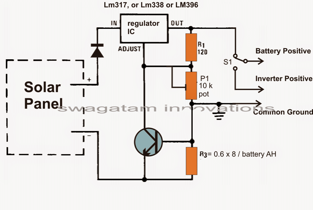 battery charger circuit using lm317