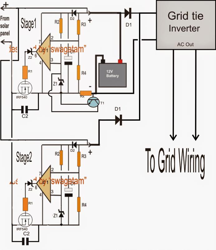 solar power fan circuit
