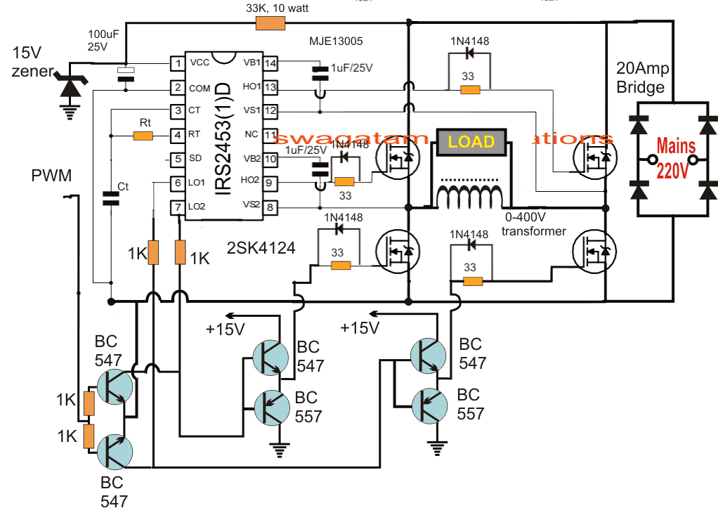 voltage stabilizer circuit diagram