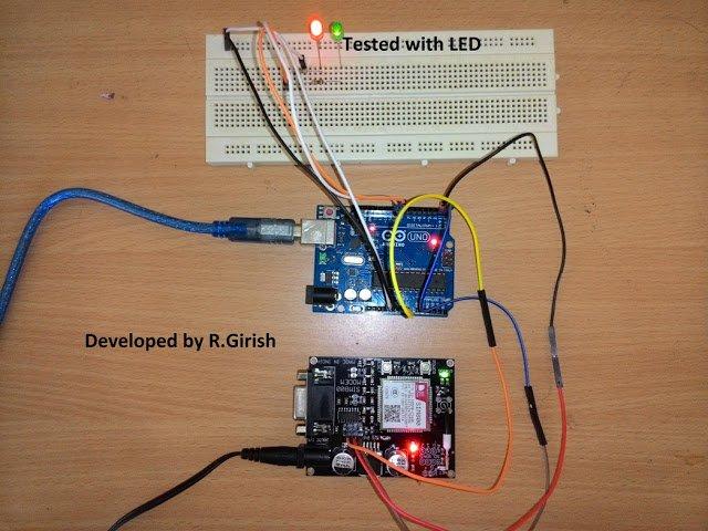 GSM Pump Motor Controller Circuit using Arduino Homemade Circuit