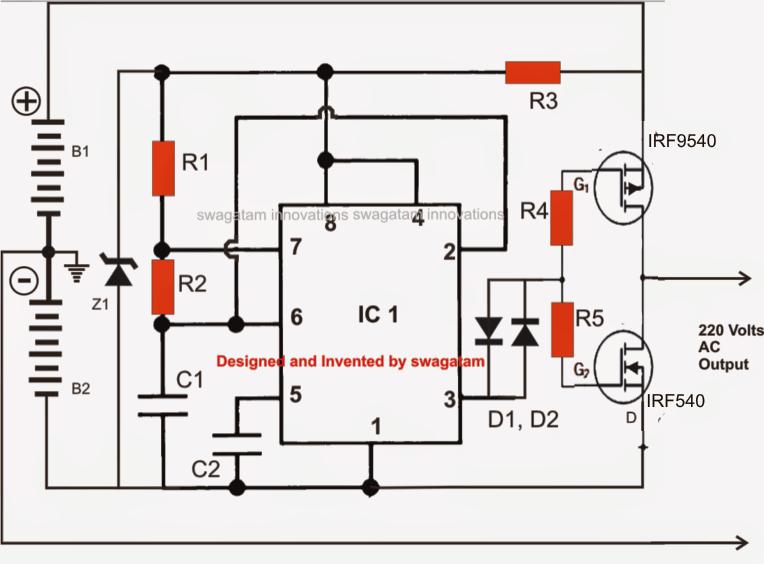 solar power oscillation circuit diagram powersupplycircuit