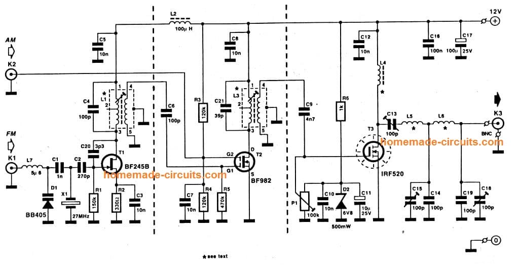 transmitter circuit 2 to 5 km range homemade circuit projects