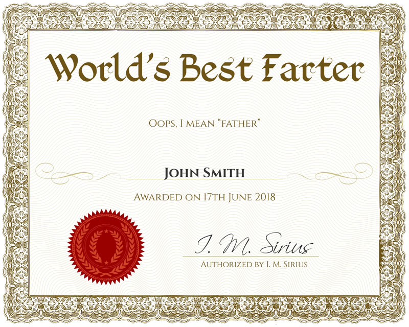 award certificate generator