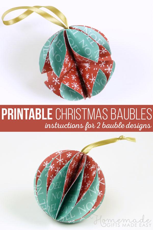 homemade paper christmas ornaments