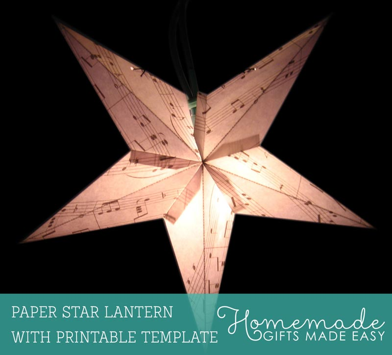 Make a Paper Star Lantern - Printable Template and Instructions - star template