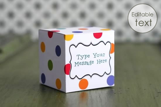 Printable Gift Boxes - Personalize and Print at Home!