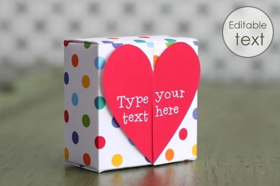 Free Gift Box Templates to Download, Print,  Make