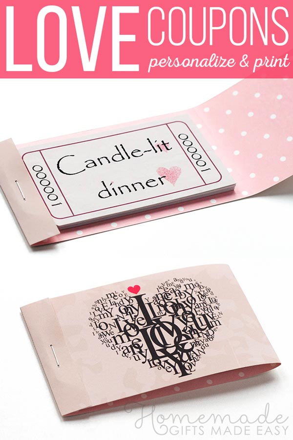 Romantic Coupons to Download, Personalize, and Print - Coupon Book Printing