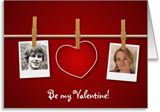 Free Valentine Photo Card Templates - MS Word Format - Easy to Use