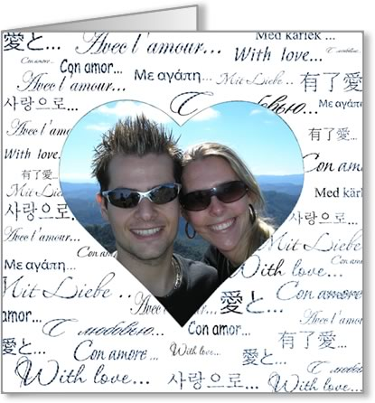 Free Valentine Photo Card Templates - MS Word Format - Easy to Use - card templates for word