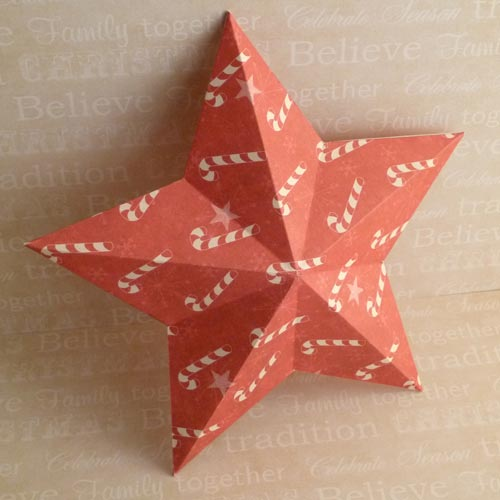 Making Christmas Decorations - Easy 3D Stars, Baubles, and More - christmas star decorations