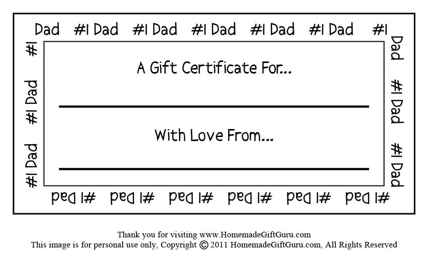 father\u0027s day gift certificate template