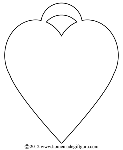Free Gift Tags - Heart Templates