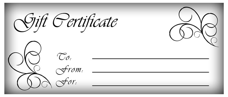 picture of a gift certificate