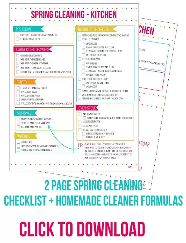 Kitchen Spring Cleaning Checklist - Home Made Interest - spring cleaning checklist