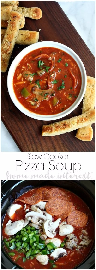 Slow Cooker Pizza Soup - Home. Made. Interest.