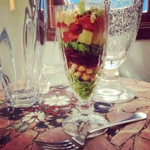 salada no copo
