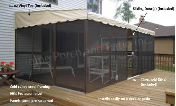 Patio Mate Screenrooms Diy Screen Room Kits Temporary