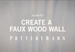 How to Paint a Faux Wood Accent Wall