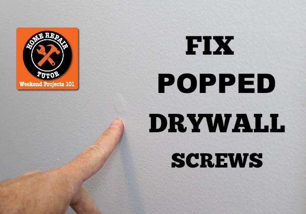 Repair Nail Pops And Holes In Sheetrock - Home Repair Tutor
