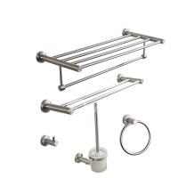 Nickel Brushed Silver modern Bathroom Accessories Sets