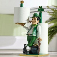 Unique Funny Cool Stand Alone Double Toilet Paper Holder