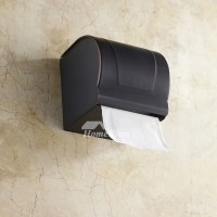 Black Brushed Oil Rubbed Bronze Wall Mounted Toilet Paper ...