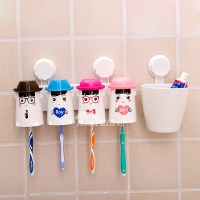 Decorative Suction Cup Cute Toothbrush Holder For Bathroom