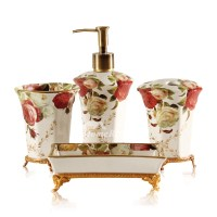 High End Vintage Bathroom Accessories Sets 5-Piece